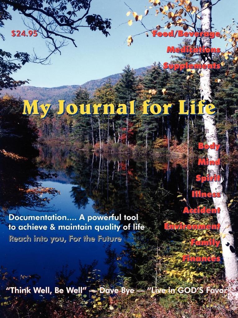 My Journal for Life als Taschenbuch