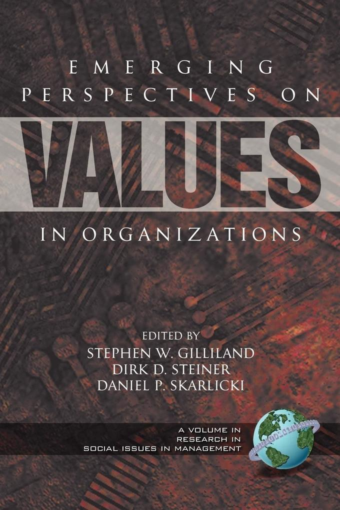 Emerging Perspectives on Values in Organizations (PB) als Taschenbuch