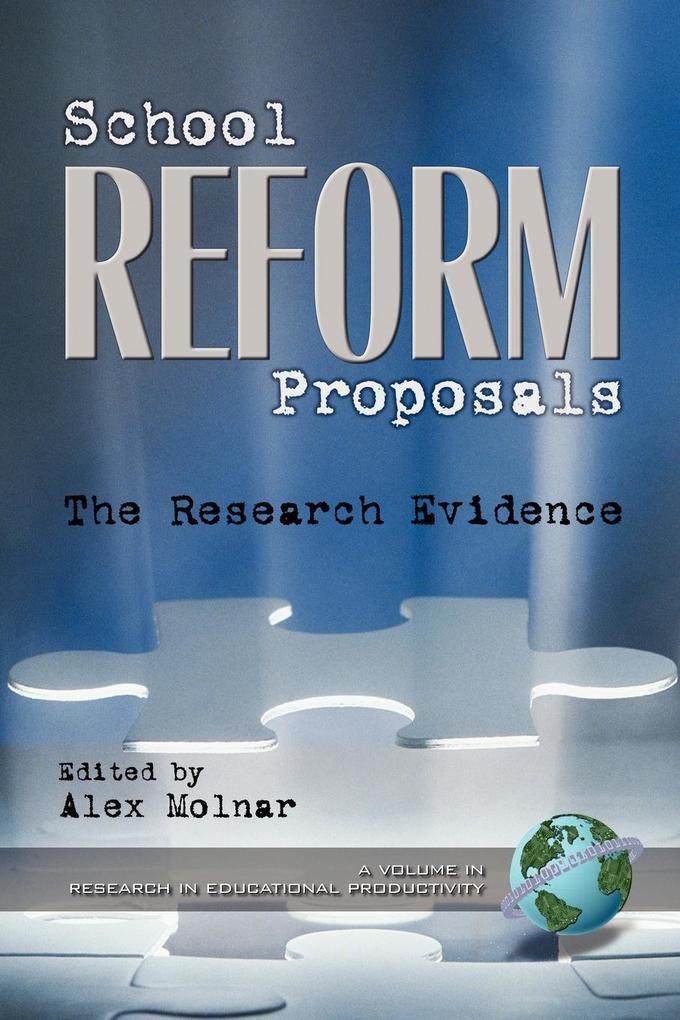 School Reform Proposals als Taschenbuch