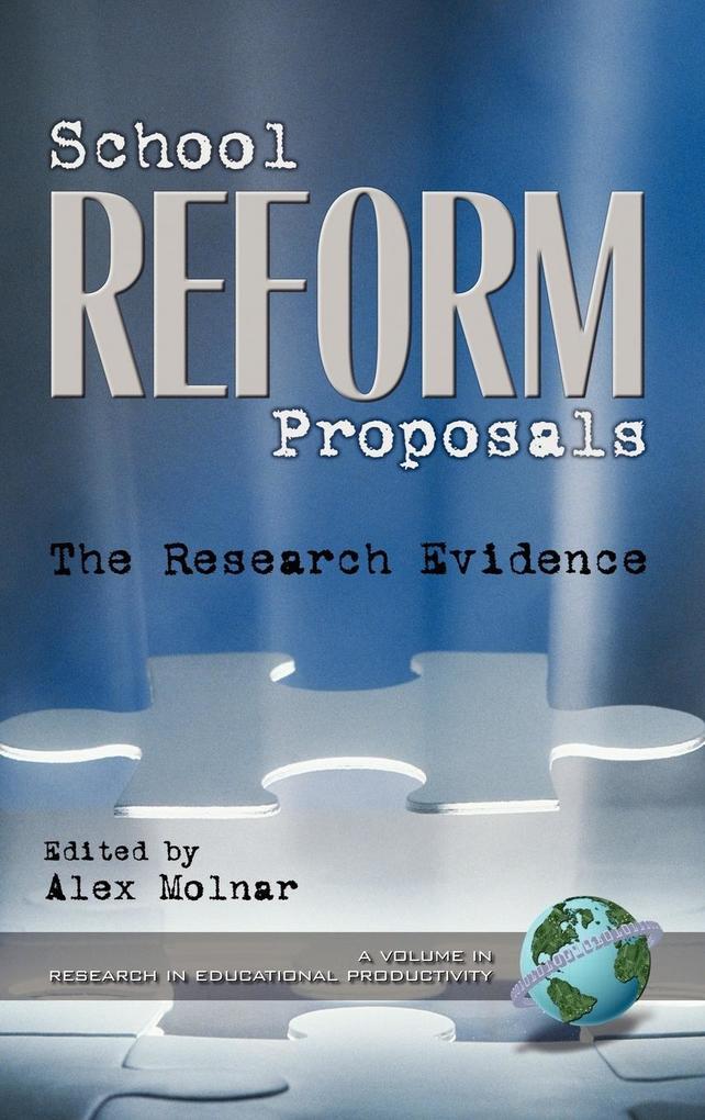 School Reform Proposals als Buch