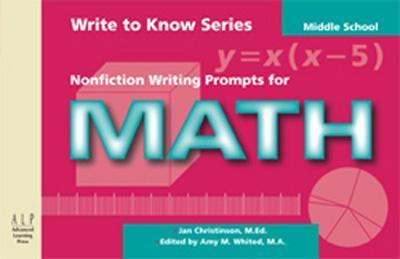Write to Know: Nonfiction Writing Prompts for Middle School Math als Taschenbuch