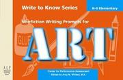Nonfiction Writing Prompts for Art: Elementary