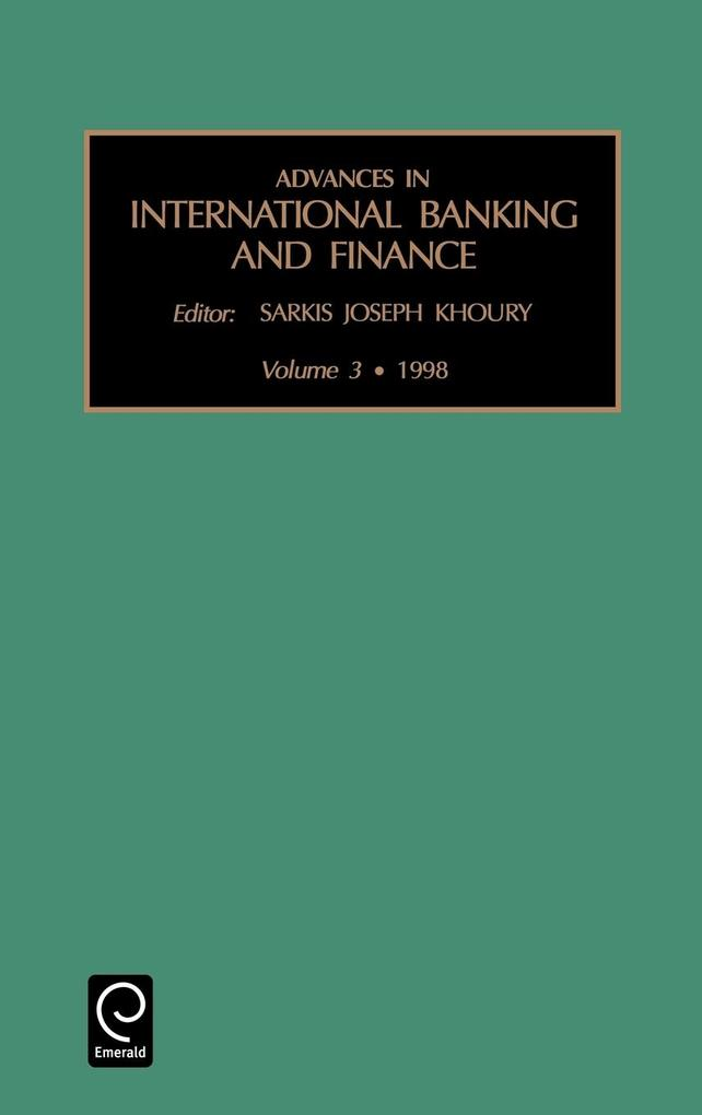 Advances in International Banking and Finance als Buch