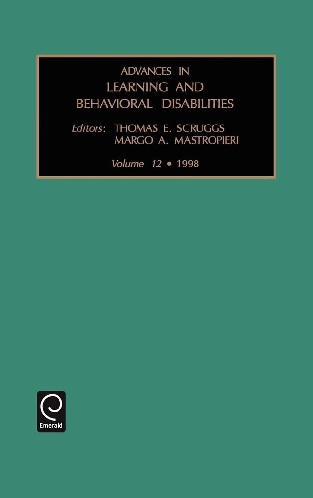 Advances in Learning and Behavioral Disabilities als Buch