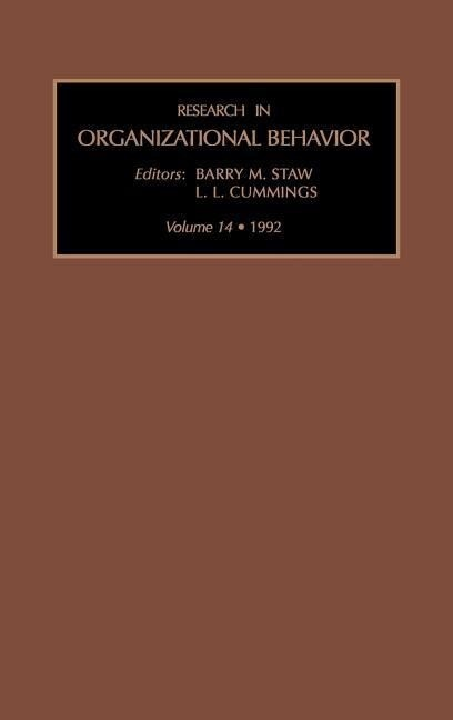 Research in Organizational Behavior als Buch