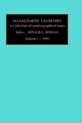 Management Laureates: A Collection of Autobiographical Essays: Vol 1 als Buch
