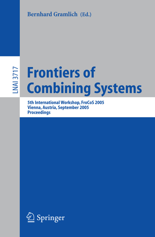 Frontiers of Combining Systems als Buch