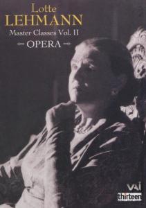 Master Classes 2: Lotte Lehmann als DVD