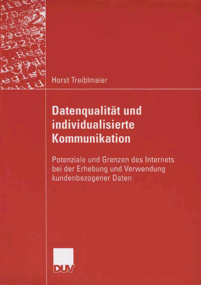 Datenqualität und individualisierte Kommunikation als Buch