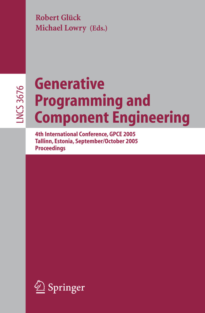 Generative Programming and Component Engineering als Buch