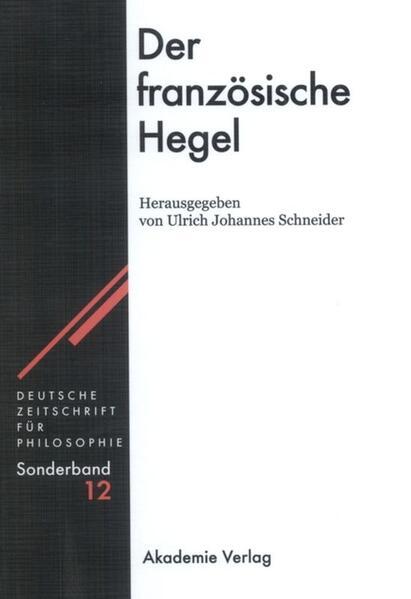Der französische Hegel als Buch