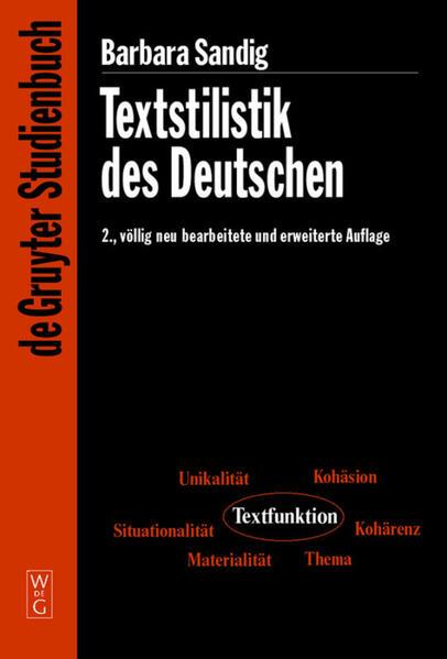 Textstilistik des Deutschen als Buch