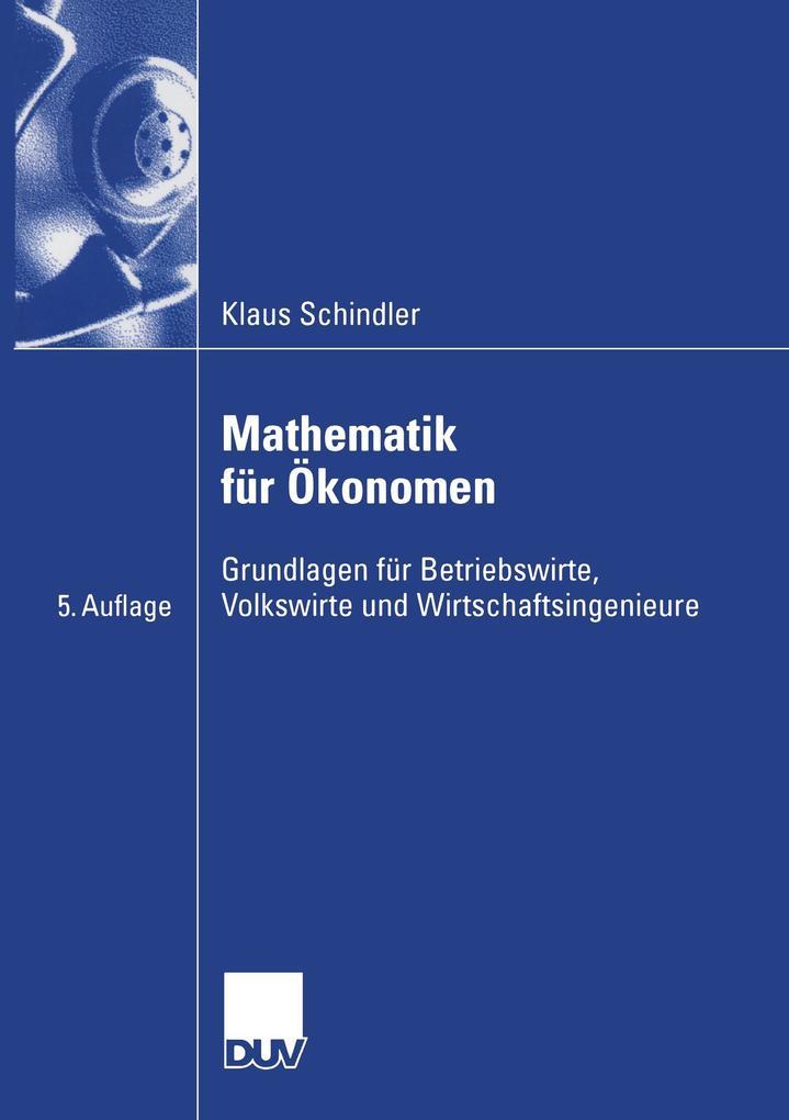 Mathematik für Ökonomen als Buch