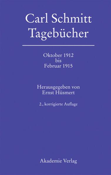 Tagebücher vom Oktober 1912 bis Februar 1915 als Buch