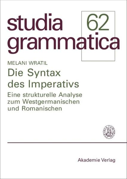 Die Syntax des Imperativs als Buch
