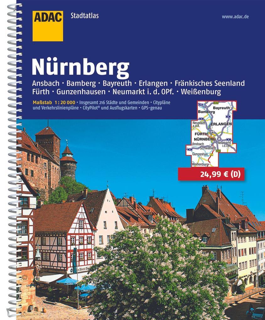 ADAC Stadtatlas Großraum Nürnberg 1 : 20 000 als Buch