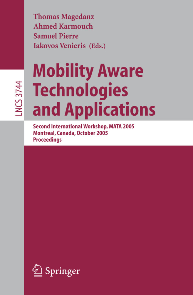 Mobility Aware Technologies and Applications als Buch