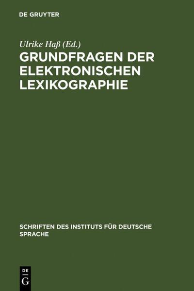Grundfragen der elektronischen Lexikographie als Buch