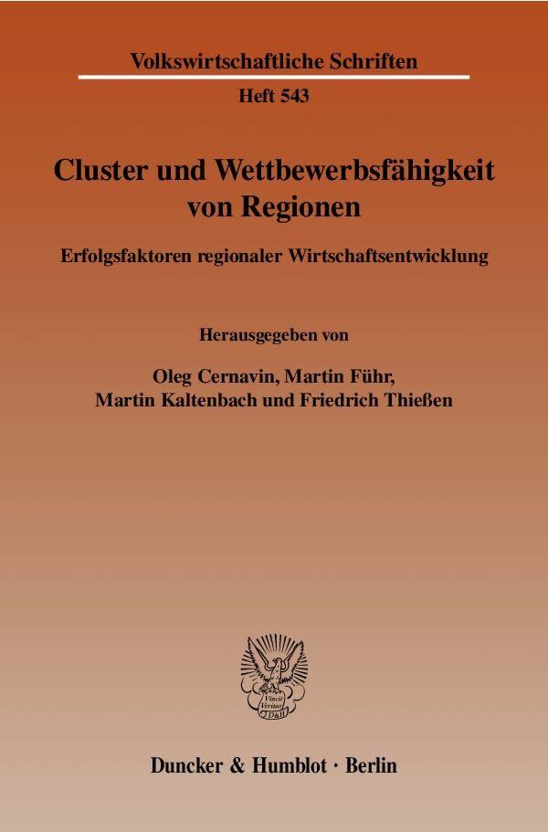 Cluster und Wettbewerbsfähigkeit von Regionen als Buch
