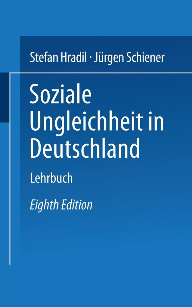 Soziale Ungleichheit in Deutschland als Buch