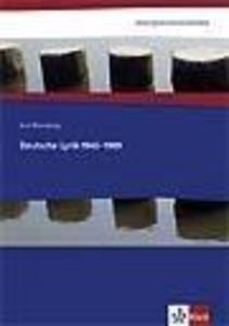 Interpretationshilfen Deutsche Lyrik 1945-1989 als Buch
