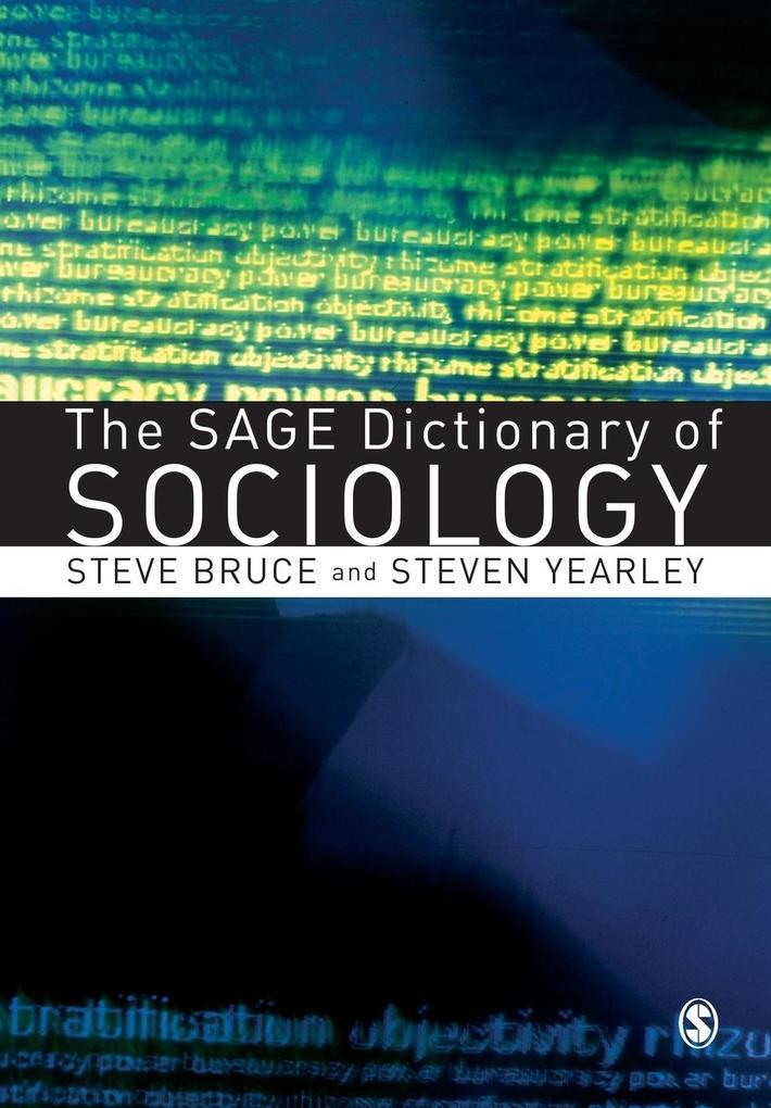 The Sage Dictionary of Sociology als Buch