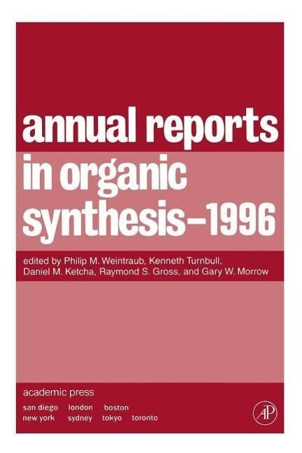 Annual Reports in Organic Synthesis 1996 als Taschenbuch