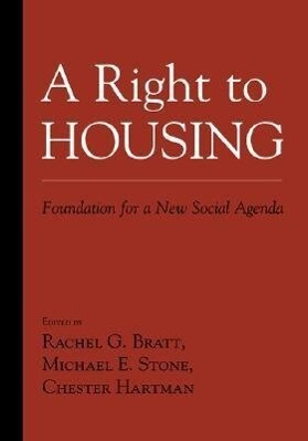 A Right to Housing: Foundation for a New Social Agenda als Buch