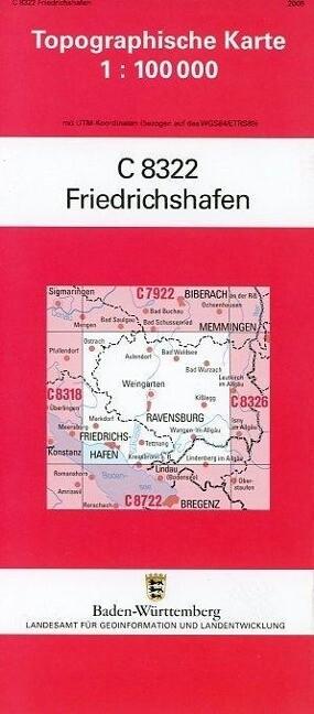 Friedrichshafen 1 : 100 000 als Buch von