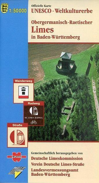 Limes in Baden-Württemberg 1 : 50 000 als Buch