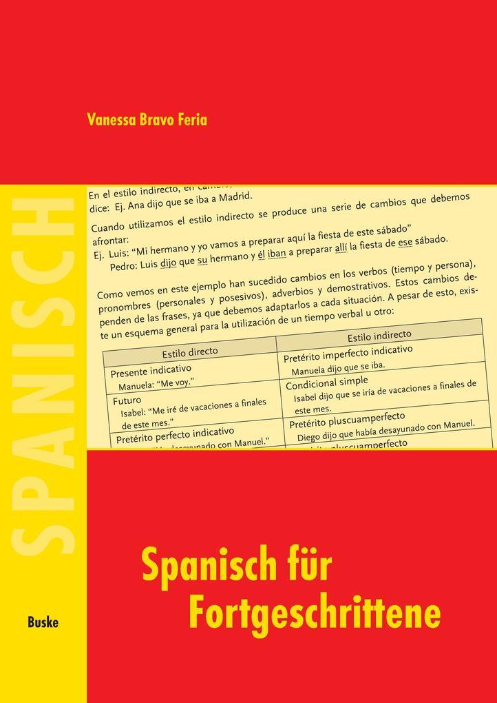 Spanisch für Fortgeschrittene als Buch