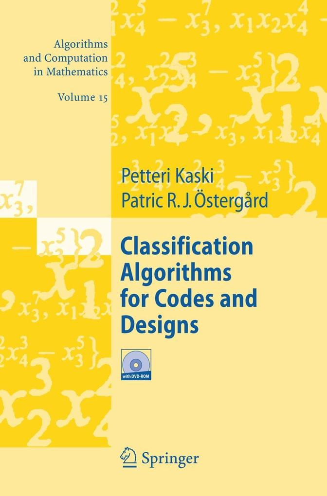 Classification Algorithms for Codes and Designs als Buch