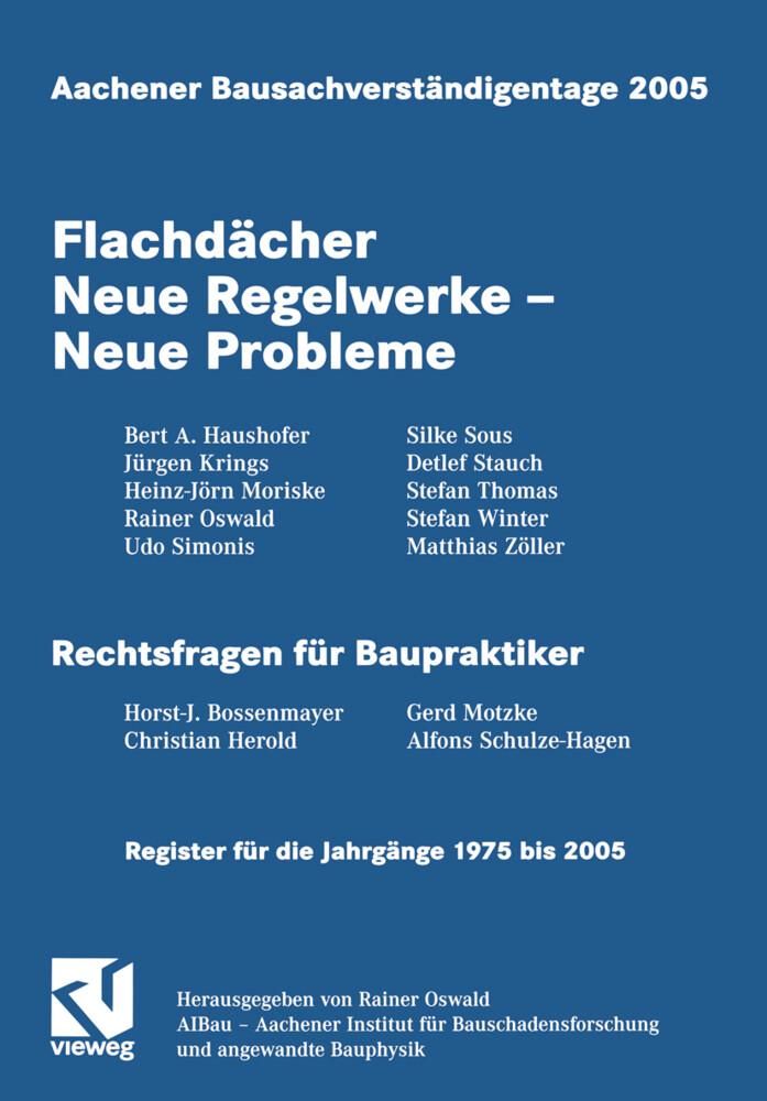 Aachener Bausachverständigentage 2005 als Buch