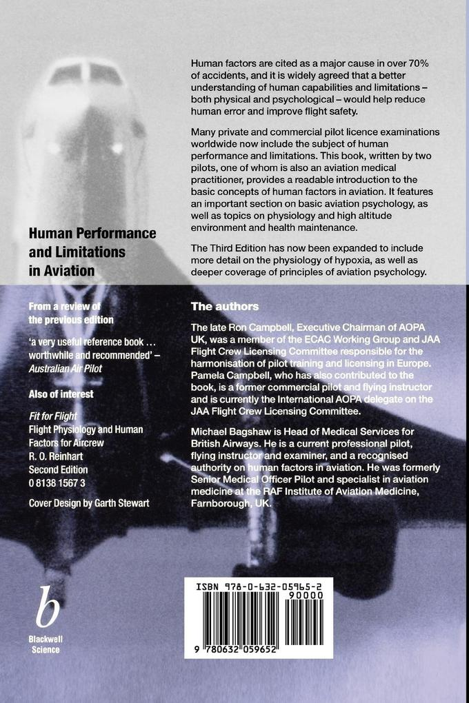 Human Performance and Limitations als Buch