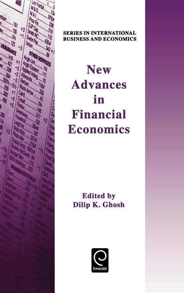 New Advances in Financial Economicsseries in International Business & Economics als Buch