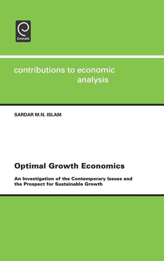 Optimal Growth Economics als Buch