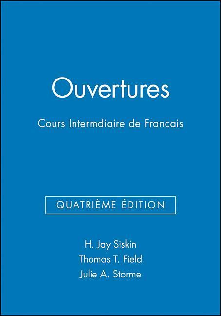 Ouvertures, Workbook/Lab Manual: Cours Intermediaire de Francais als Taschenbuch