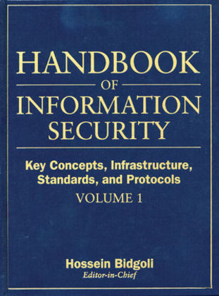 Handbook of Information Security, Key Concepts, Infrastructure, Standards, and Protocols als Buch