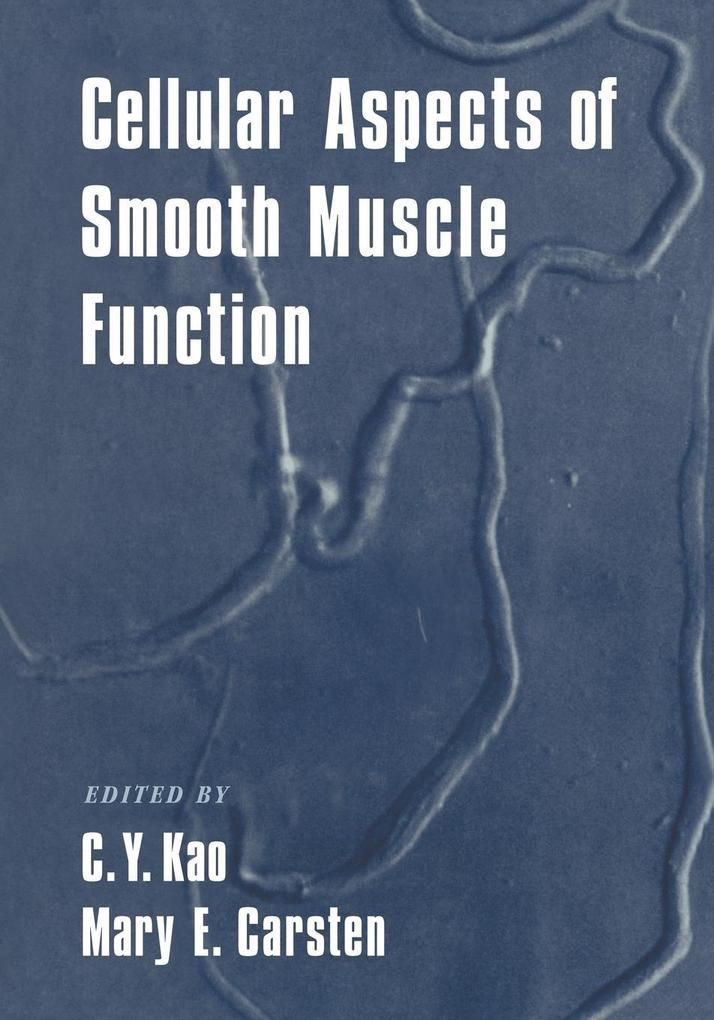 Cellular Aspects of Smooth Muscle Function als Taschenbuch