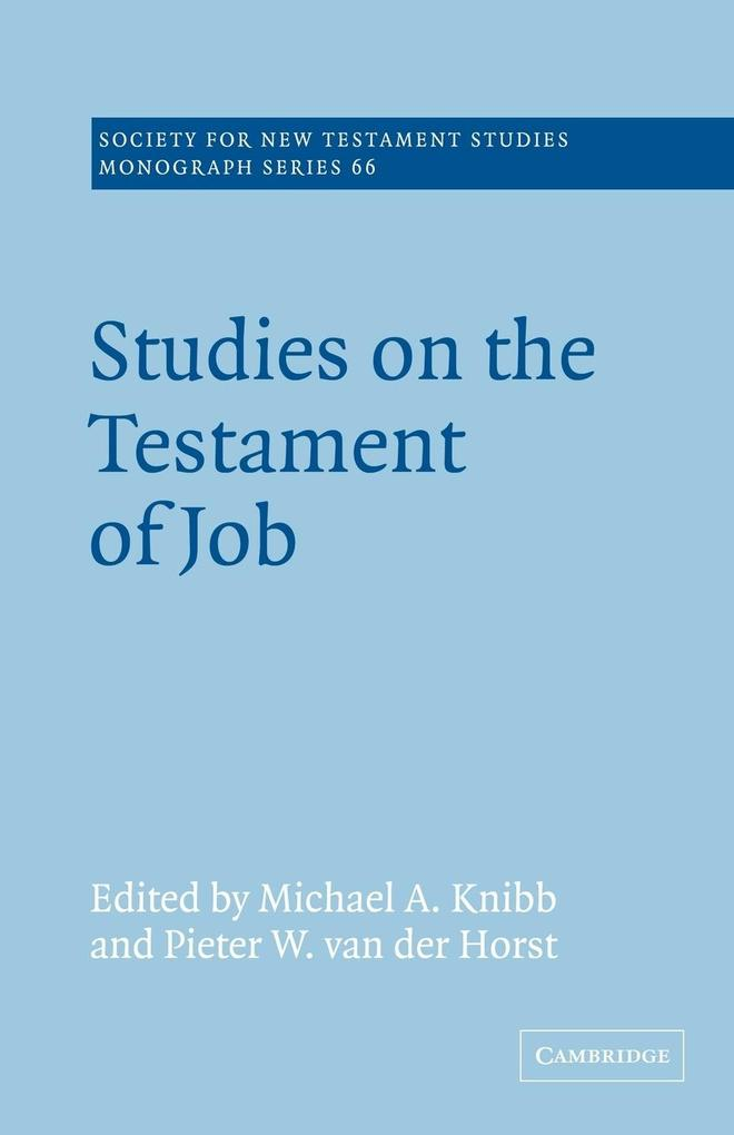 Studies on the Testament of Job als Buch