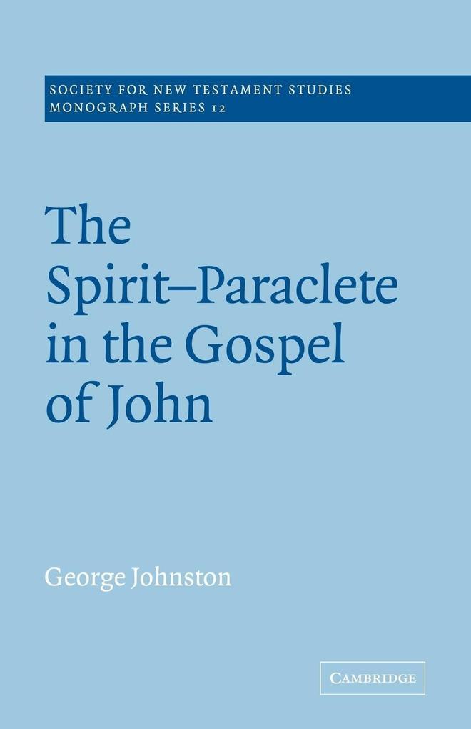 The Spirit-Paraclete in the Gospel of John als Buch