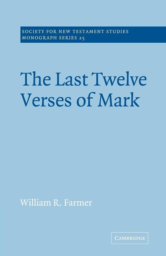 The Last Twelve Verses of Mark als Buch