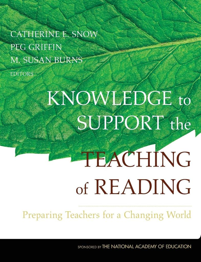 Knowledge to Support the Teaching of Reading als Buch