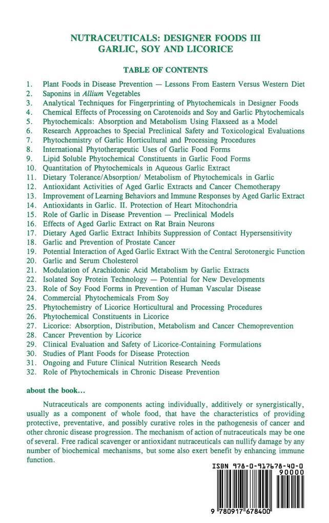 Nutraceuticals als Buch