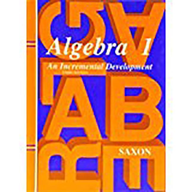 Saxon Algebra 1: Student Edition Third Edition Third Edition 1997 als Buch
