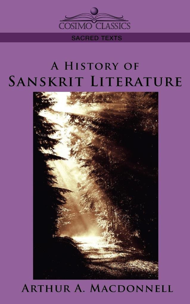 A History of Sanskrit Literature als Taschenbuch