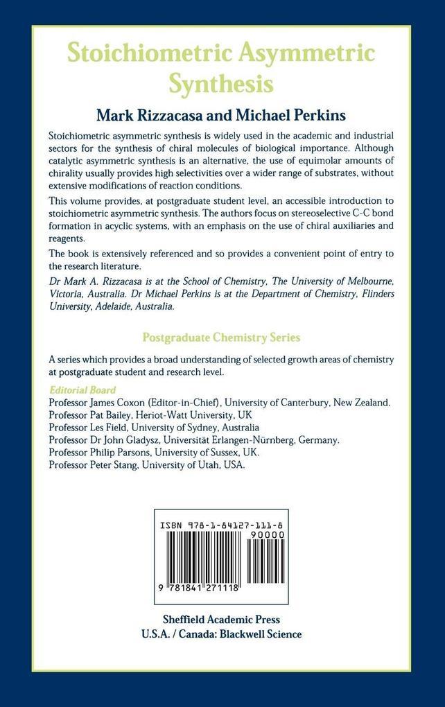 Stoichiometric Asymmetric Synthesis als Buch