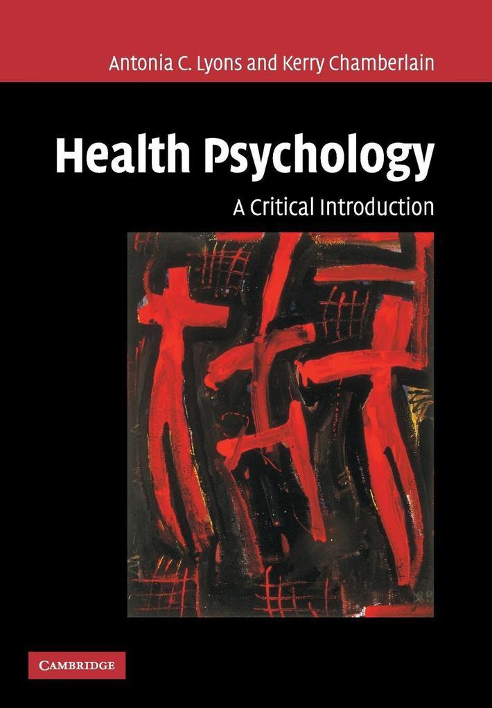Health Psychology: A Critical Introduction als Taschenbuch