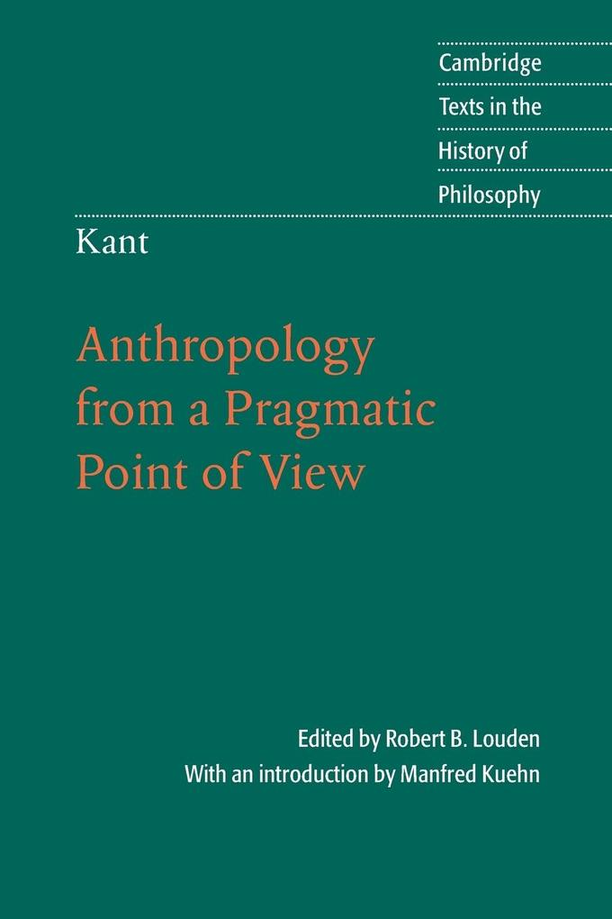 Kant: Anthropology from a Pragmatic Point of View als Buch