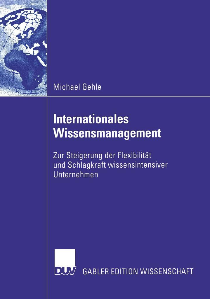 Internationales Wissensmanagement als Buch